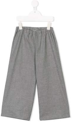 Il Gufo elastic waist wide leg trousers