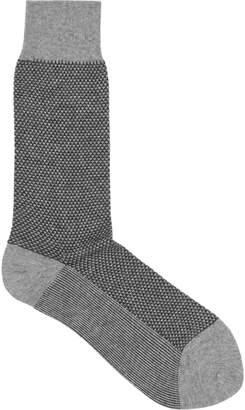Reiss Diamond Geometric-Print Socks