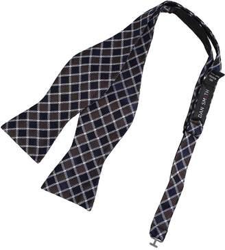IDEA DBA7C14B Dark Grey Plaids Bow Tie Microfiber Popular For Wedding Hand-model Bow Tie By Dan Smith