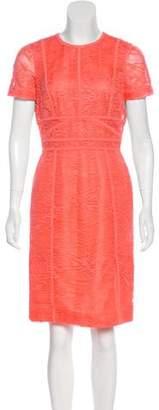 J. Mendel Lace Knee-Length Dress
