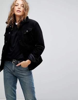 Lee Borg Collar Denim Jacket In Cord