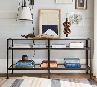 Pottery Barn Tanner Long Console Table - Bronze finish