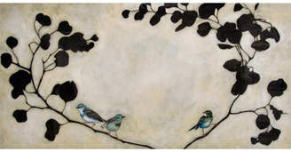 GreenBox Art 'Blue Birds' by Amy Paul Graphic Art on Wrapped Canvas