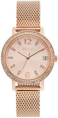 Relic Women's Laurie Crystal Mesh Watch