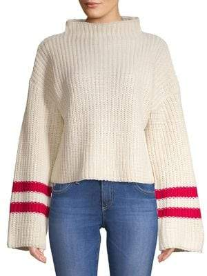Design Lab Striped Oversized-Sleeve Sweater