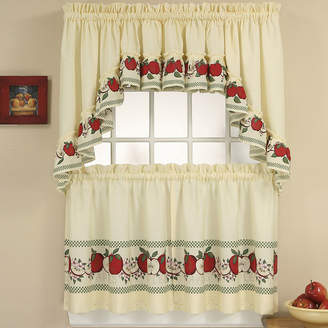 CHF Red Delicious 3-pc. Rod-Pocket Kitchen Curtain Set