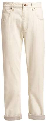 Brunello Cucinelli Garment-Dyed Selvedge Denim Jeans