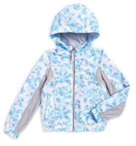 London Fog Girl's Floral Rain Jacket