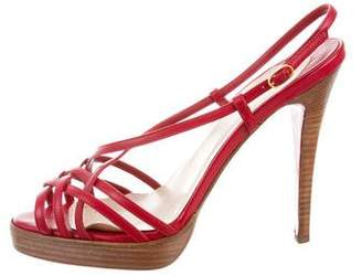 Christian Louboutin Leather Multi-Strap Sandals