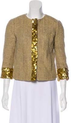Tory Burch Sequin Accent Tweed Jacket