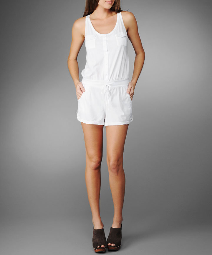 Button-front romper