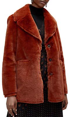 Warehouse Femme Faux Fur Coat
