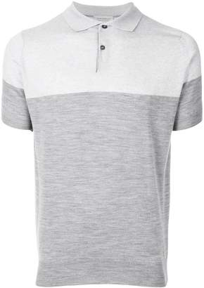 John Smedley colour block polo shirt