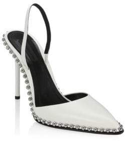 Alexander Wang Rina Studded Leather Slingbacks