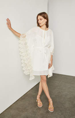 BCBGMAXAZRIA Mosaic Scallop Embroidery Dress