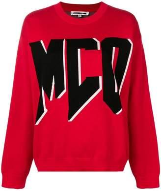 McQ contrast logo jumper