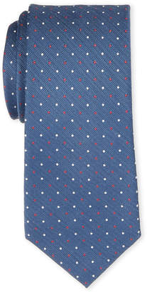 MICHAEL Michael Kors Navy & Red Dotted Silk-Blend Tie