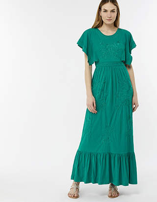 Monsoon Emma Embroidered Maxi Dress