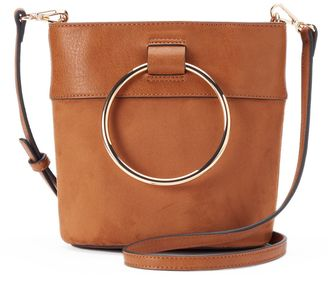 LC Lauren Conrad O-Ring Mini Bucket Crossbody Bag $59 thestylecure.com