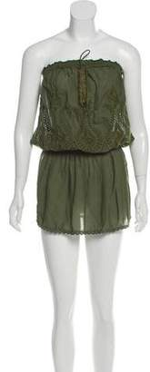 Melissa Odabash Embroidered Mini Cover-Up Dress