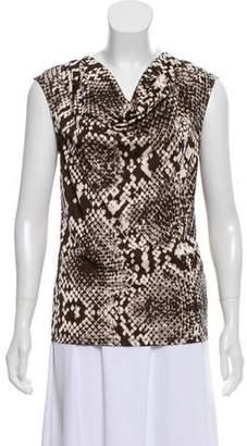 MICHAEL Michael Kors Snake Print Sleeveless Top