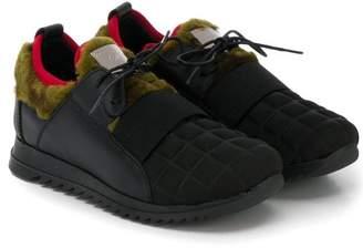 Giuseppe Junior multi-textured low top sneakers