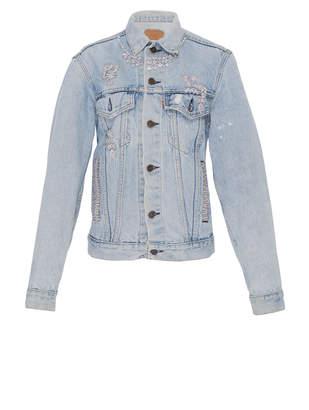 Vintage Levi's Embellished Light Denim Jacket