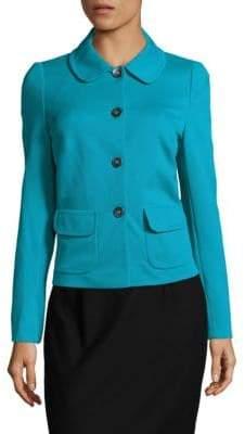 Basler Textured Button-Front Jacket