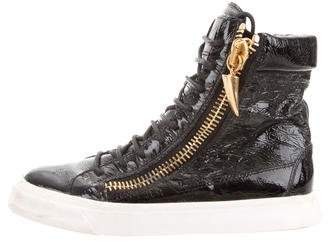 Giuseppe Zanotti Patent High-Top Sneakers
