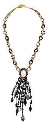 Erickson Beamon Faux Pearl, Cat's Eye Quartz & Crystal Beaded Pendant Necklace