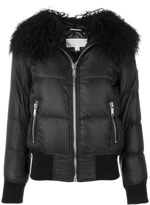 MICHAEL Michael Kors faux fur trim jacket