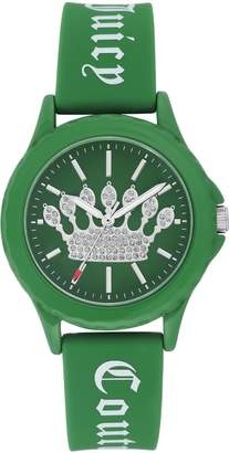 Juicy Couture Ladies' Green Sparkle Crown Watch