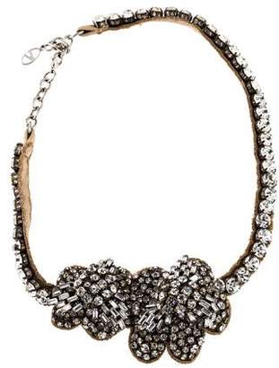 Valentino Crystal Floral Collar Necklace