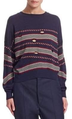 Etoile Isabel Marant Casey Striped Cutout Sweater