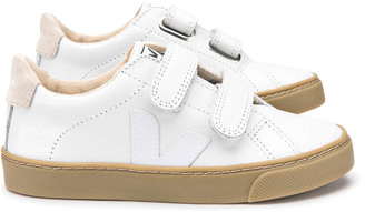 VEJA Esplar Rubber Sole Velcro Leather Trainers $94.80 thestylecure.com