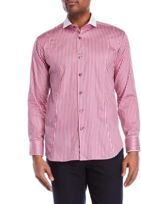 Bogosse Vertical Stripe Sport Shirt