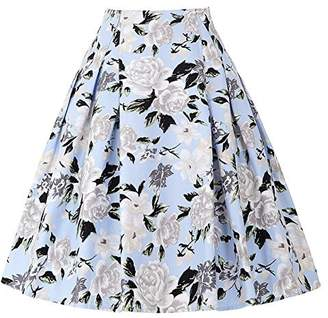 Paul Jones®Dress Women Floral Skirts Vintage Flared Style A-line Skirt CL8925
