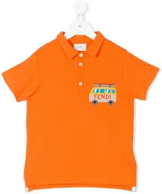 Fendi surf campervan print polo shirt