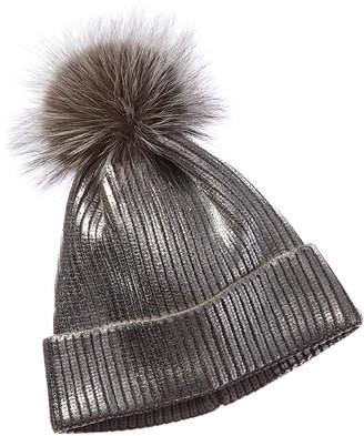 Adrienne Landau Metallic Hat