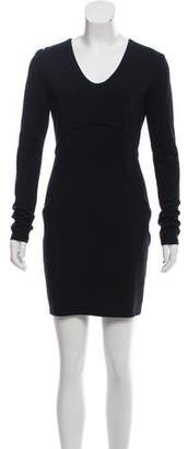 Alexander Wang V-Neck Long Sleeve Dress