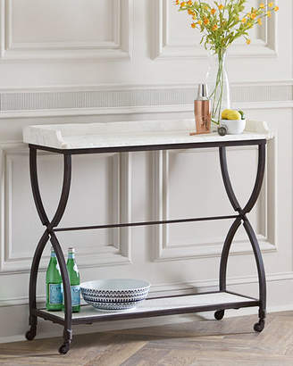 James Iron and Marble Console Table
