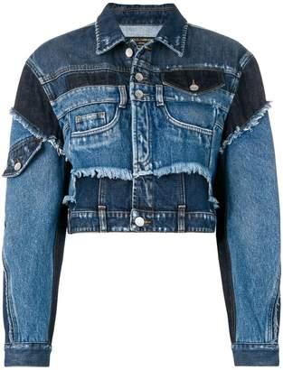 Dolce & Gabbana cropped patchwork denim jacket
