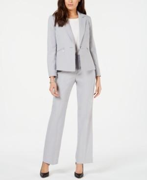 Le Suit One-Button Zipper-Pocket Pantsuit