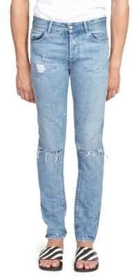 Marcelo Burlon County of Milan Blue Wings Skinny Fit Jeans