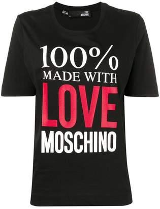 Love Moschino logo text print T-shirt