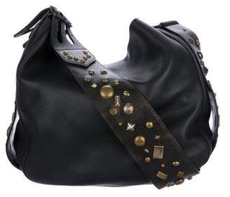 Ralph Lauren Embellished Leather Crossbody Bag