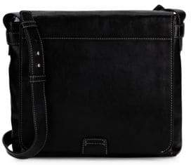 Frye Foldover Leather Crossbody Bag