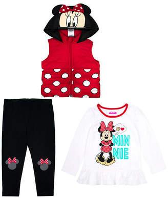 DISNEY MINNIE MOUSE Disney 3-pc. Minnie Mouse Legging Set-Toddler Girls