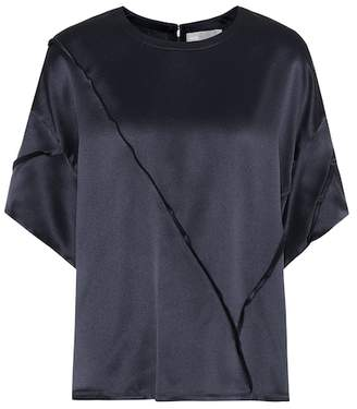 Vince Raw-edge silk T-shirt