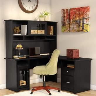 Hillsdale Red Barrel Studio L-Shape Executive Desk with Hutch